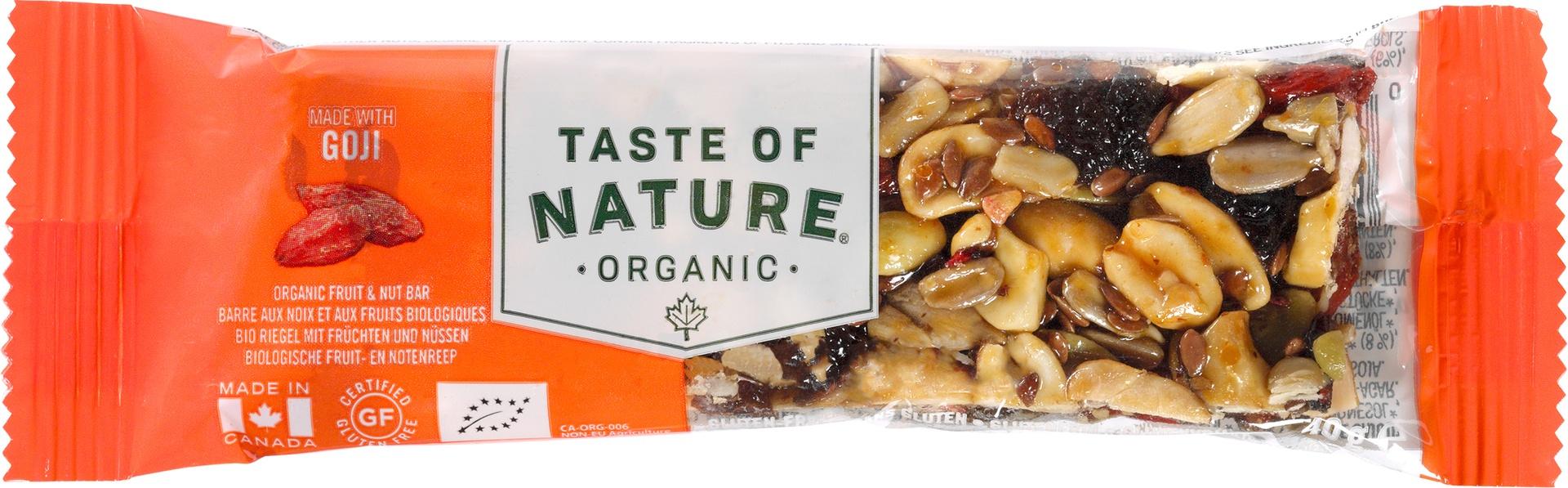 Biologische Taste of Nature Goji reep 40 gr
