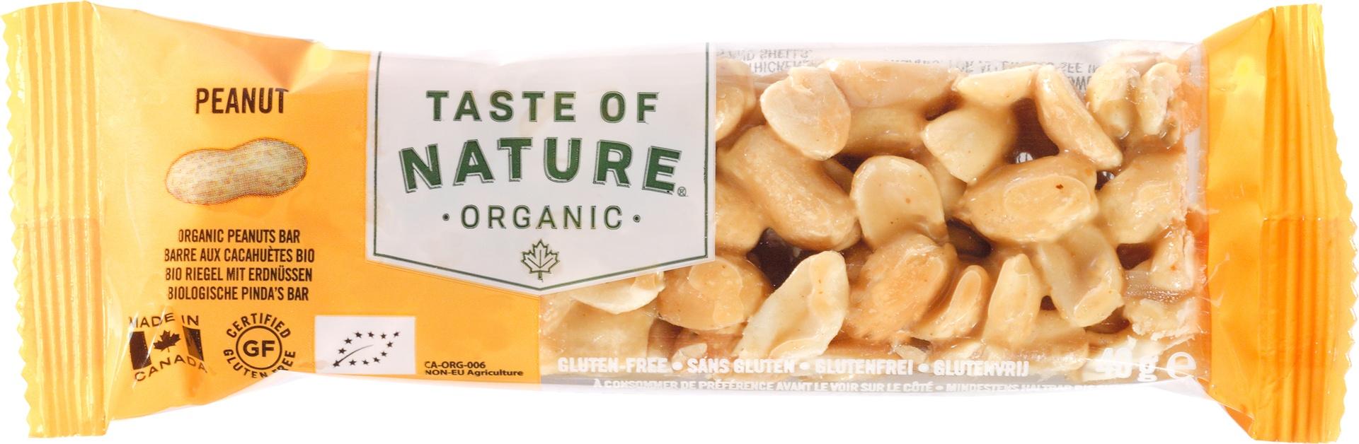 Biologische Taste of Nature Pinda reep 40 gr