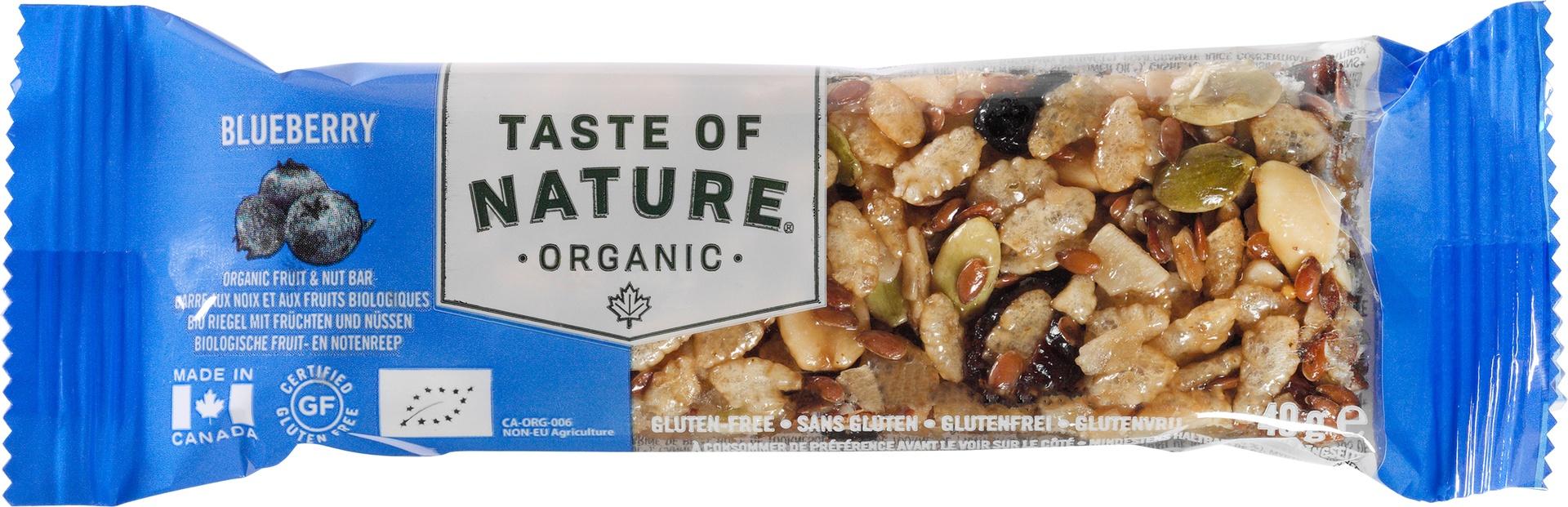 Biologische Taste of Nature Bosbes reep 40 gr
