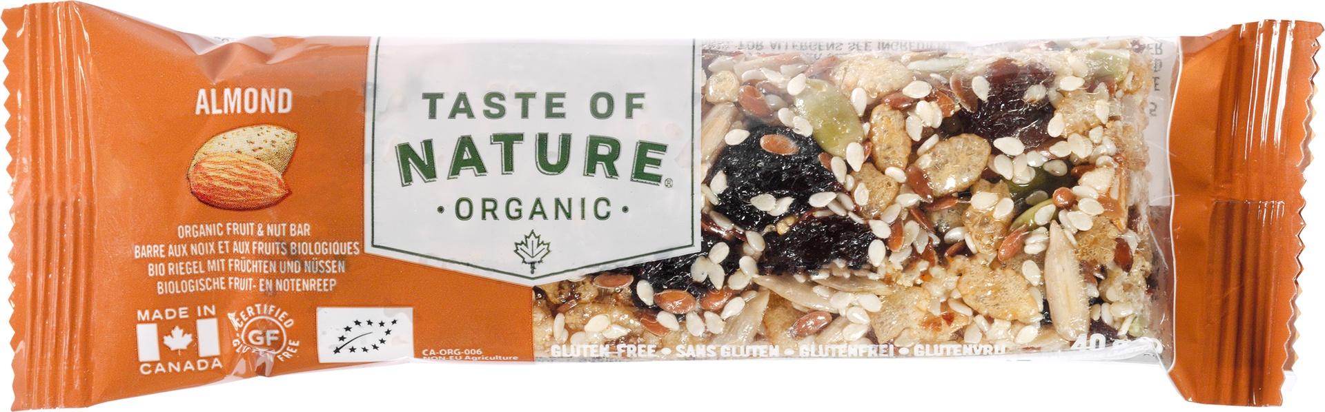 Biologische Taste of Nature Amandel reep 40 gr