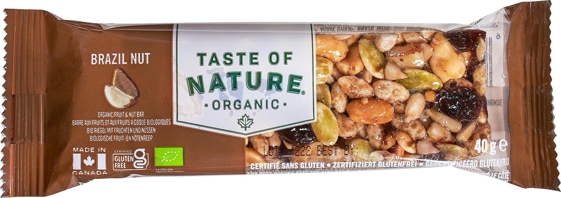 Biologische Taste of Nature Paranoot reep 40 gr
