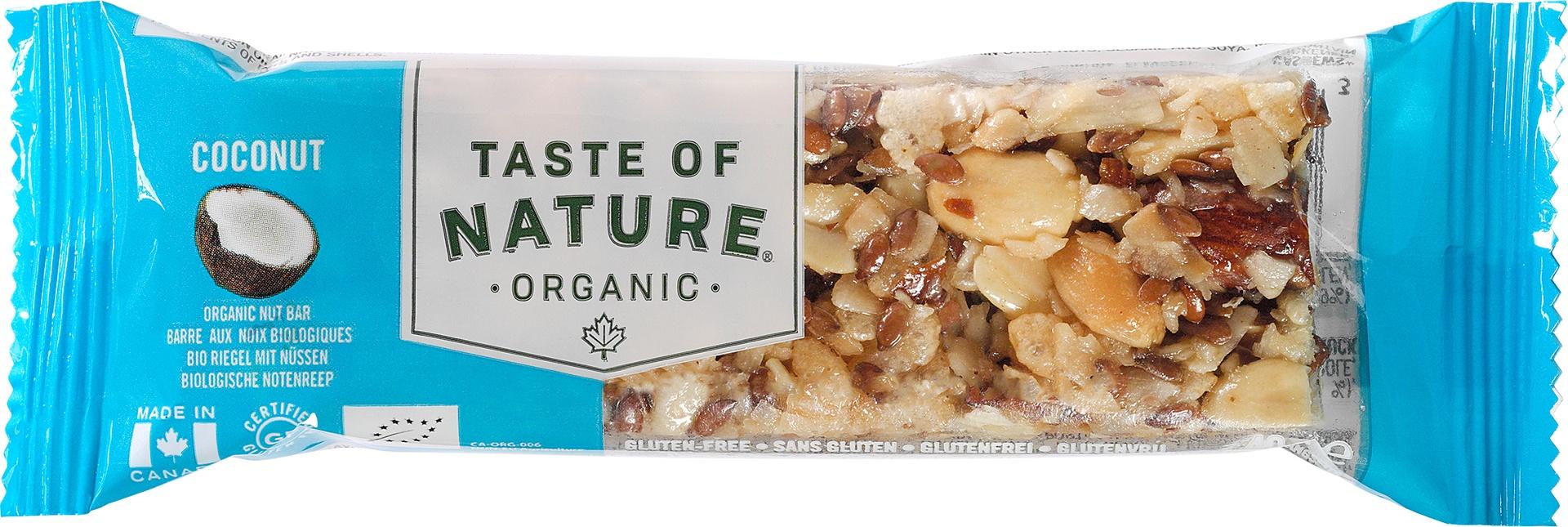 Biologische Taste of Nature Kokosnoot reep 40 gr