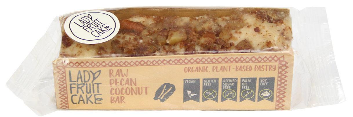 Biologische LadyFruitCake RAW pecan/kokos bar 70 gr
