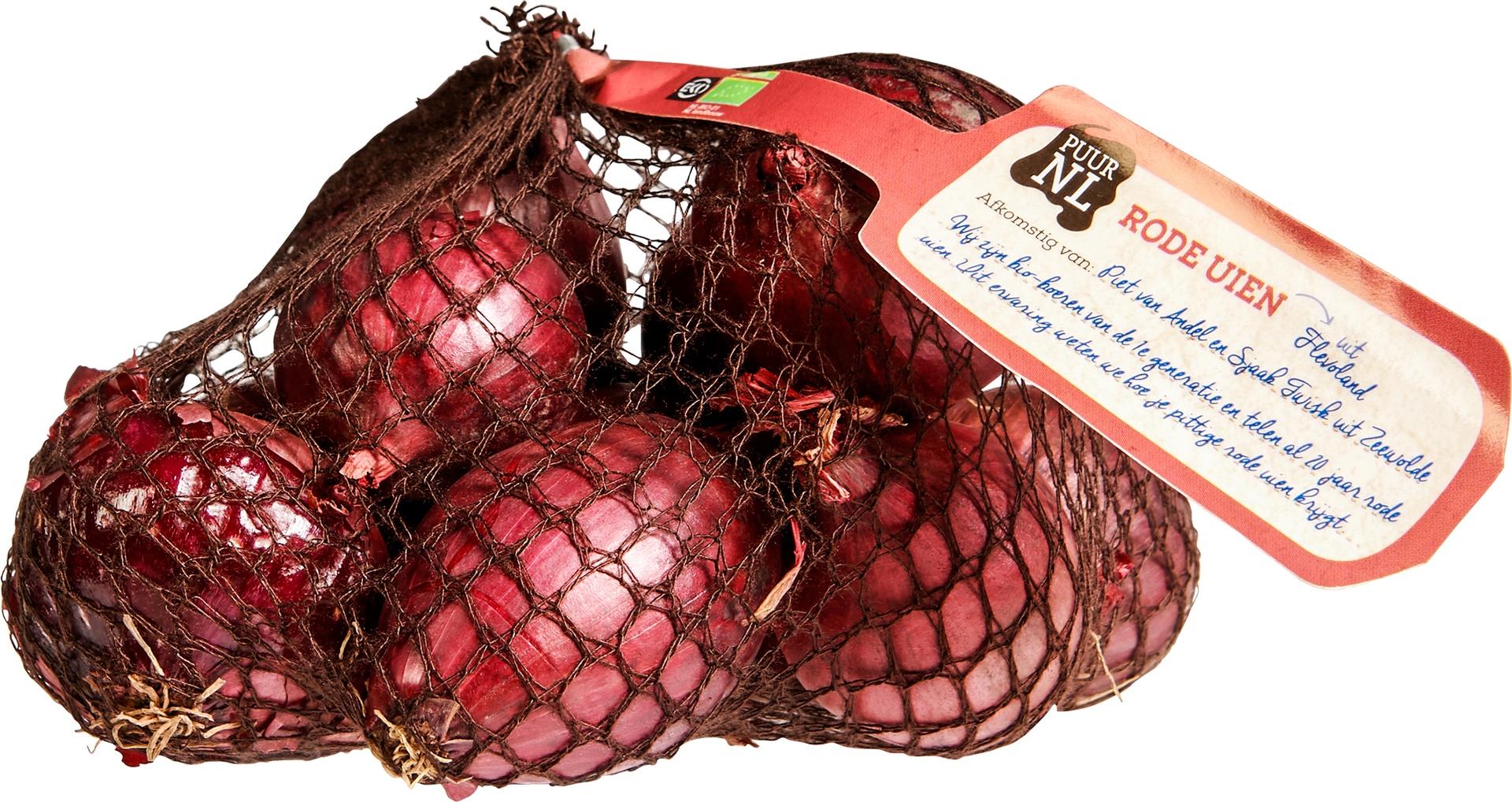 Biologische Puur NL Rode uien 500 gr