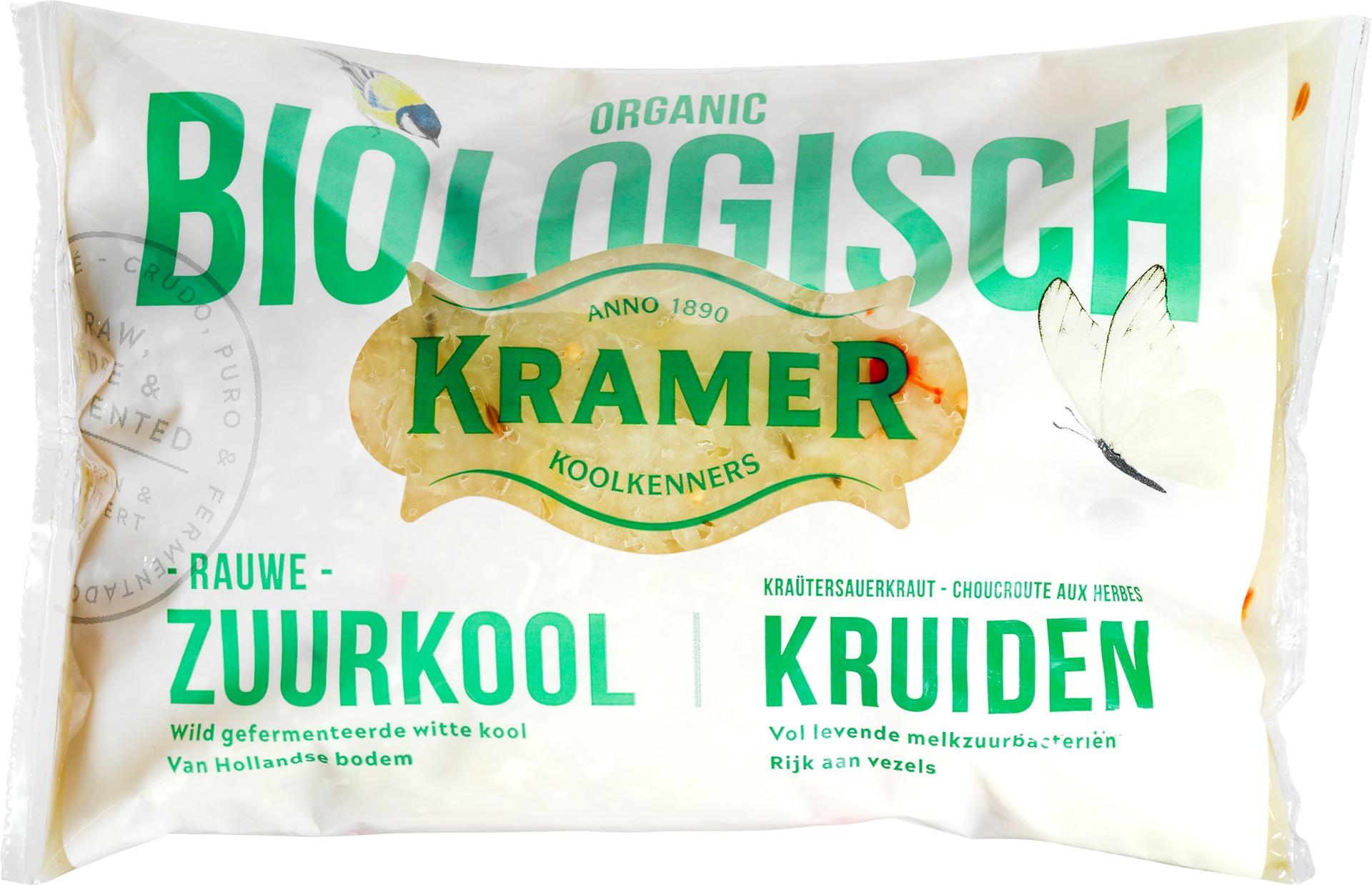 Biologische Kramer Zuurkool gekruid 500 gr