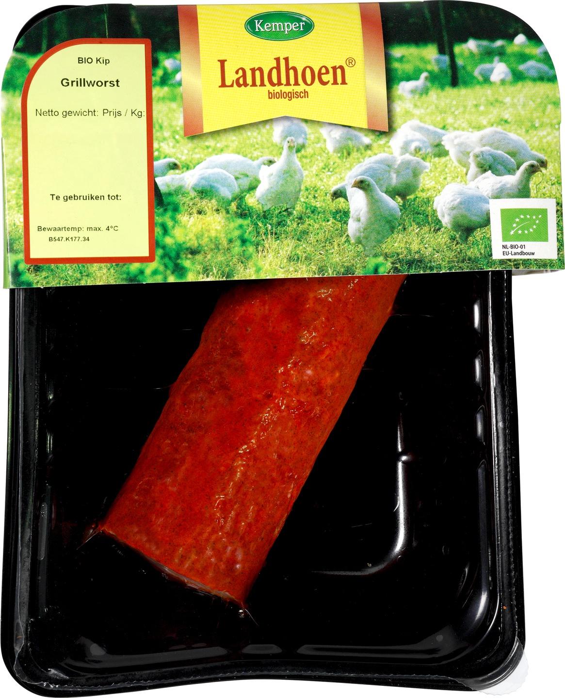Biologische Kemper Kip grillworst gegrild 150 gr