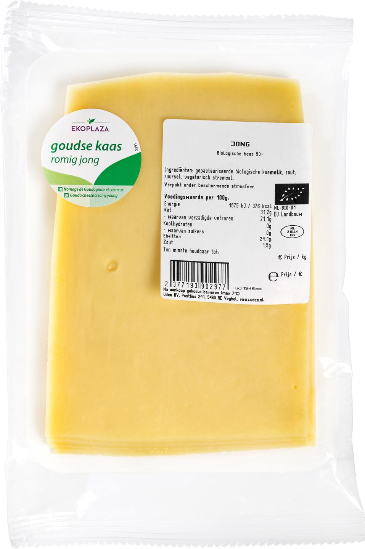 Biologische Ekoplaza Plakjes jonge kaas 50+ 175 gr