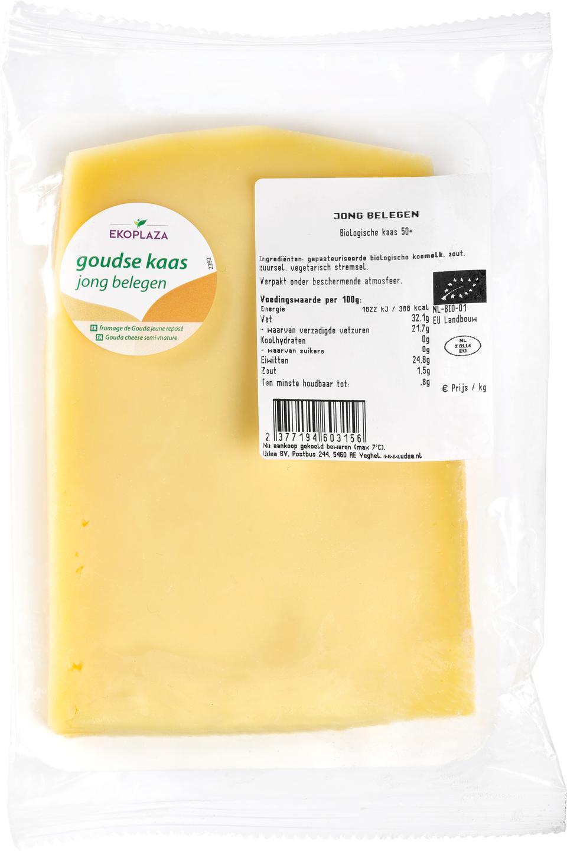 Biologische Ekoplaza Plakjes kaas jong belegen 50+ 175 gr