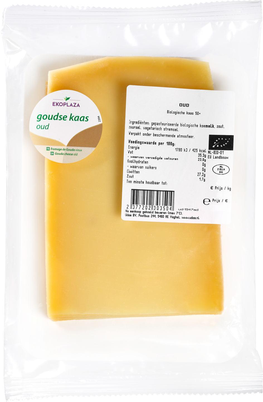 Biologische Ekoplaza Plakjes oude kaas 50+ 175 gr