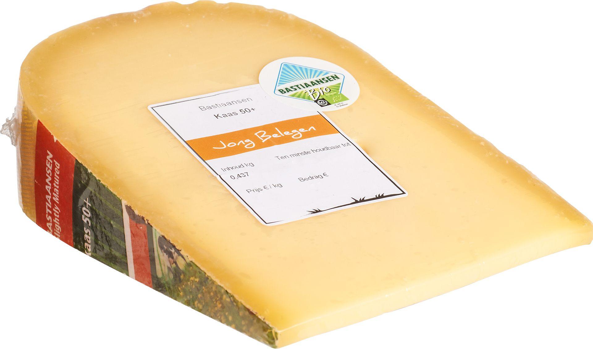 Biologische Bastiaansen Kaas jong belegen 50+ 450 gr