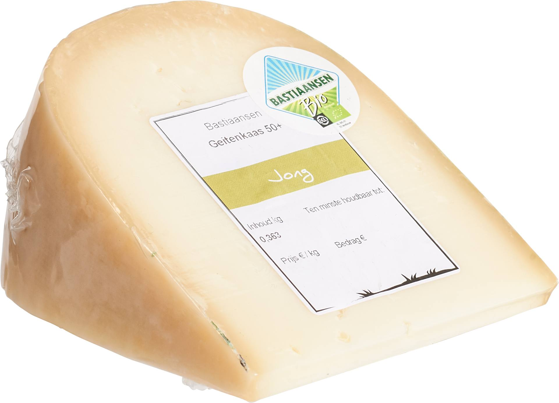 Biologische Bastiaansen Geitenkaas jong 50+ 350 gr
