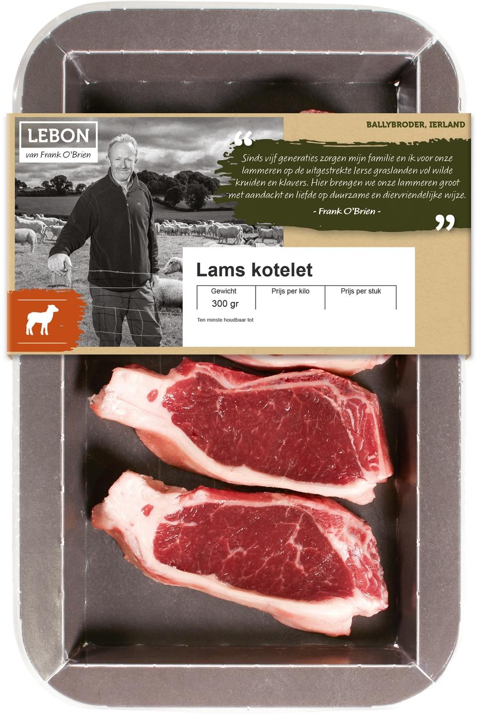 Biologische Lebon Lams kotelet 300 gr