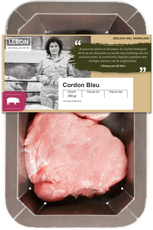Biologische Lebon Varkens cordon blue 280 gr
