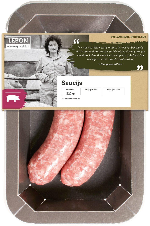 Biologische Lebon Varkens saucijs 220 gr
