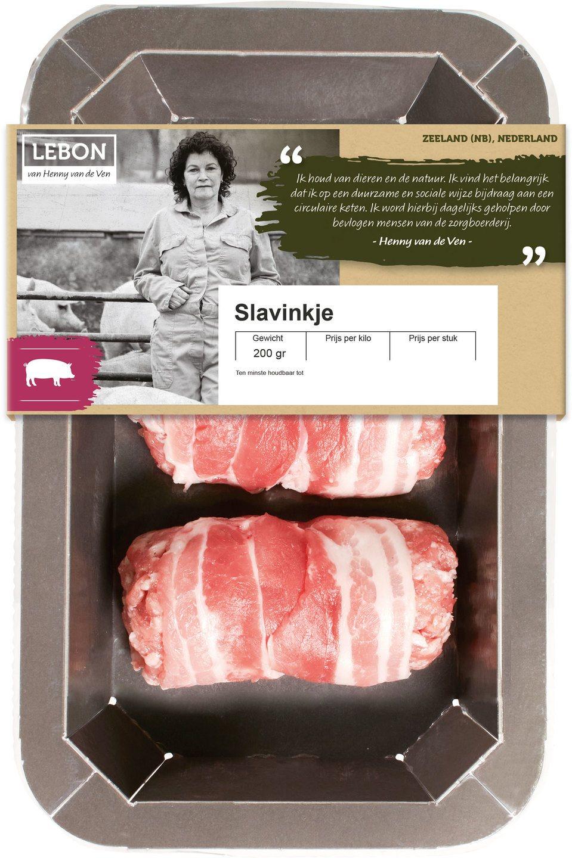 Biologische Lebon Varkens slavink 200 gr