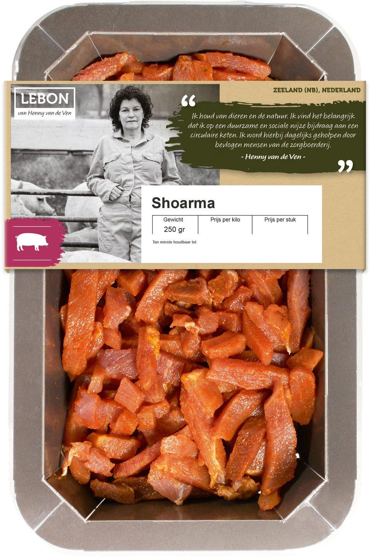 Biologische Lebon Varkens shoarma 250 gr