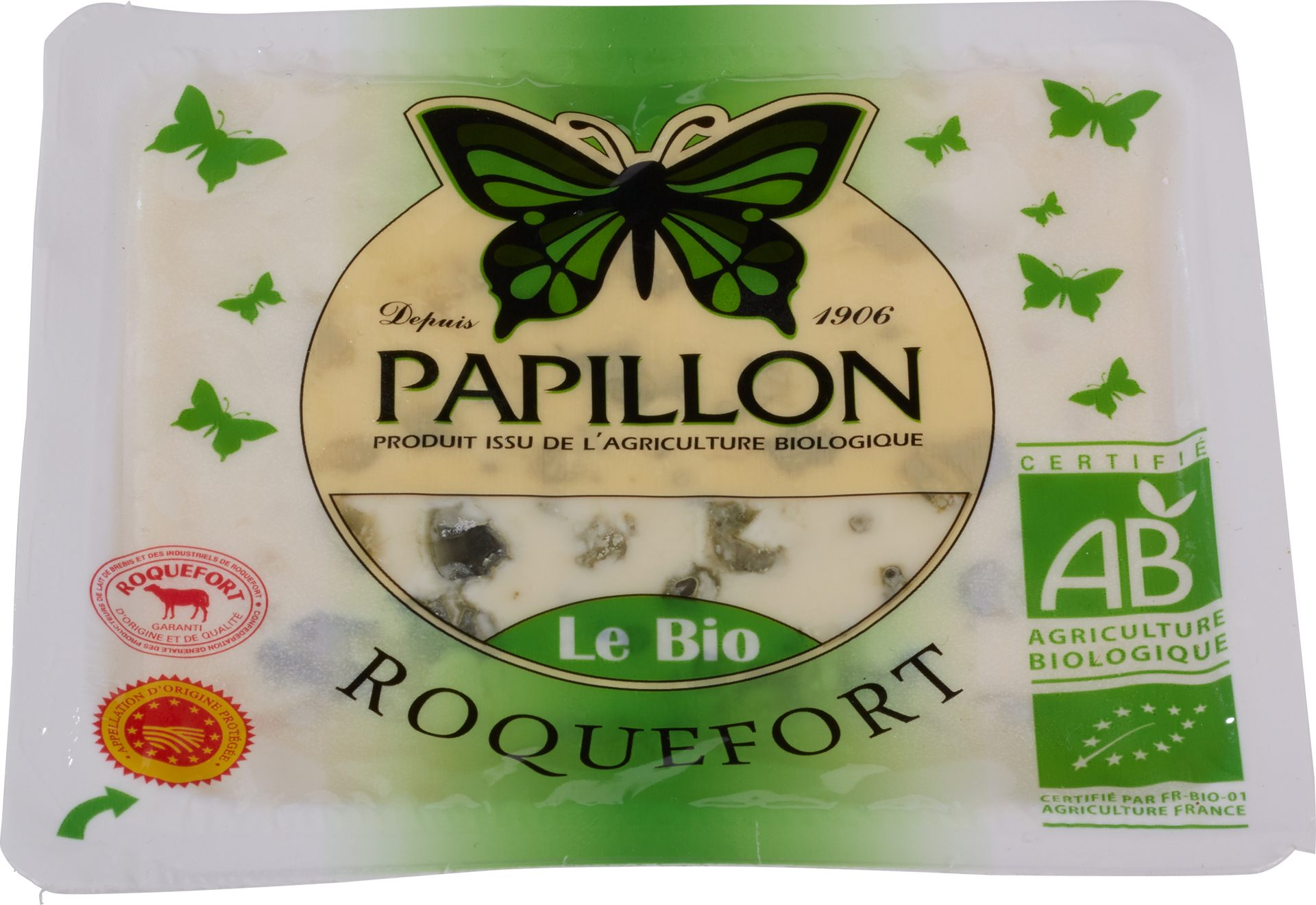 Biologische Papillon Roquefort 100 gr