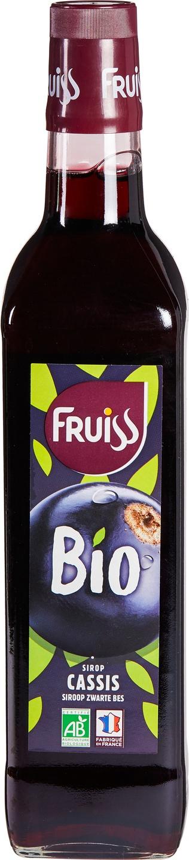 Biologische Fruiss Siroop zwarte bes 700 ml