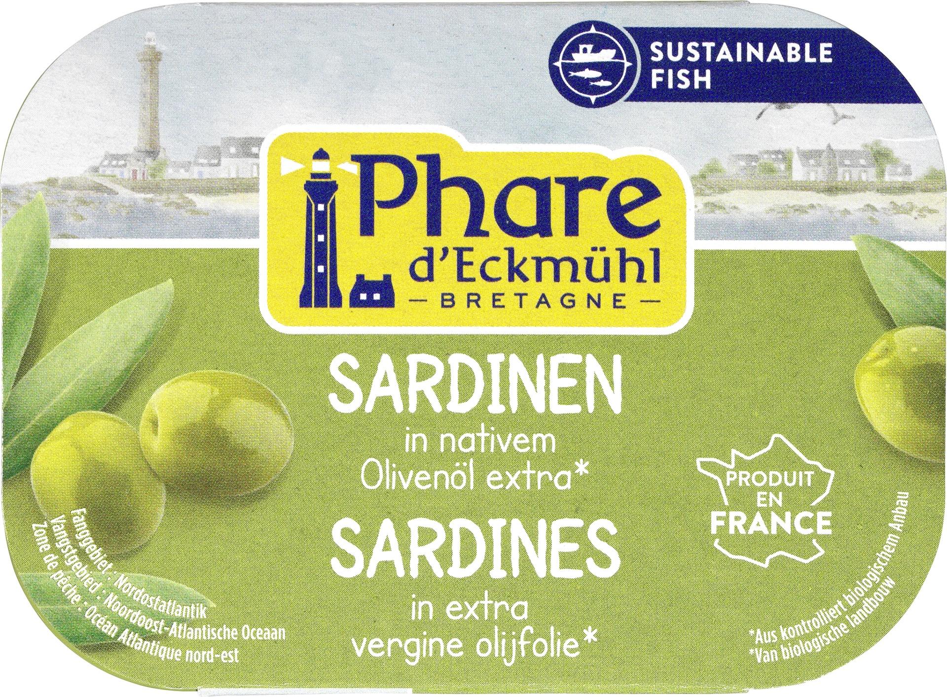 Biologische Phare d'Eckmühl Sardines Bretagne 135 gr