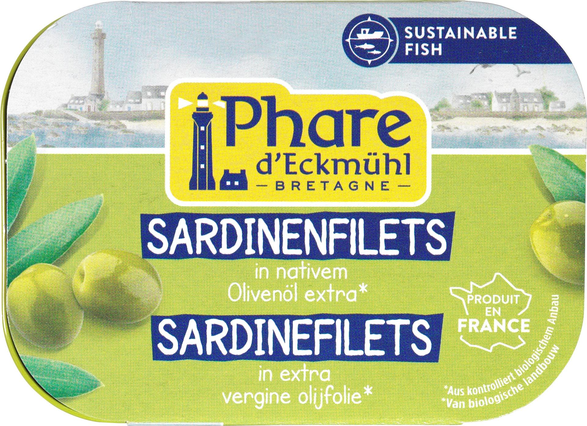 Biologische Phare d'Eckmühl Sardinefilets 100 gr