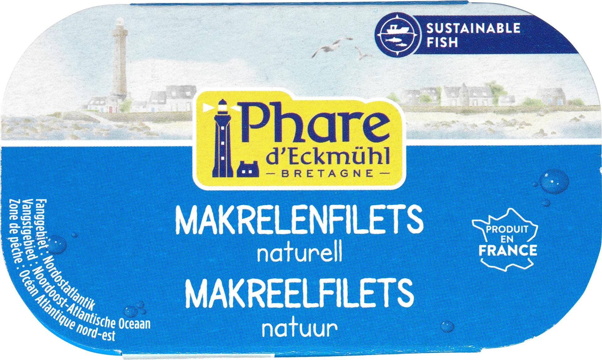 Biologische Phare d'Eckmühl Makreelfilet naturel 113 gr