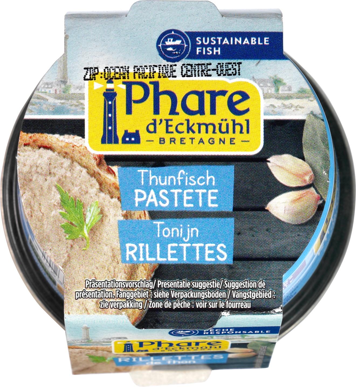 Biologische Phare d'Eckmühl Rillettes van tonijn 120 gr