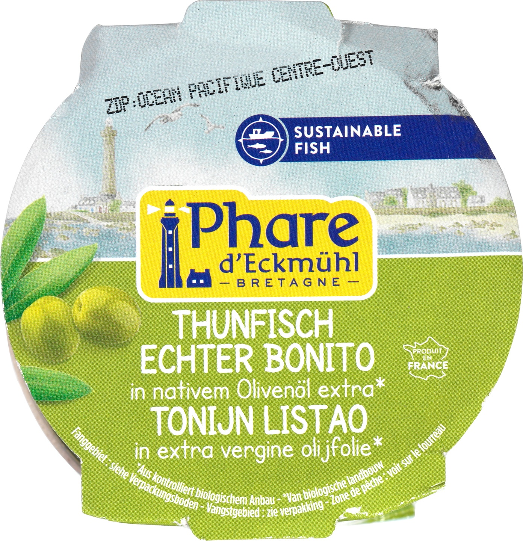 Biologische Phare d'Eckmühl Tonijn Listao in olijfolie 160 gr