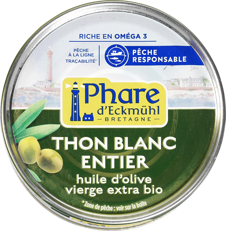 Biologische Phare d'Eckmühl Witte tonijn in olijfolie 160 gr