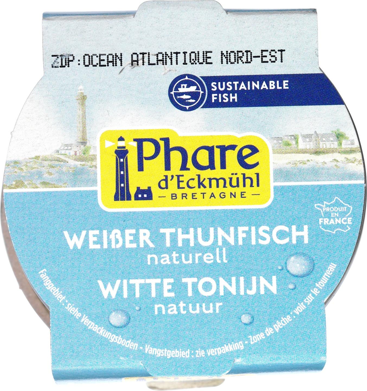 Biologische Phare d'Eckmühl Witte tonijn in water 132 gr