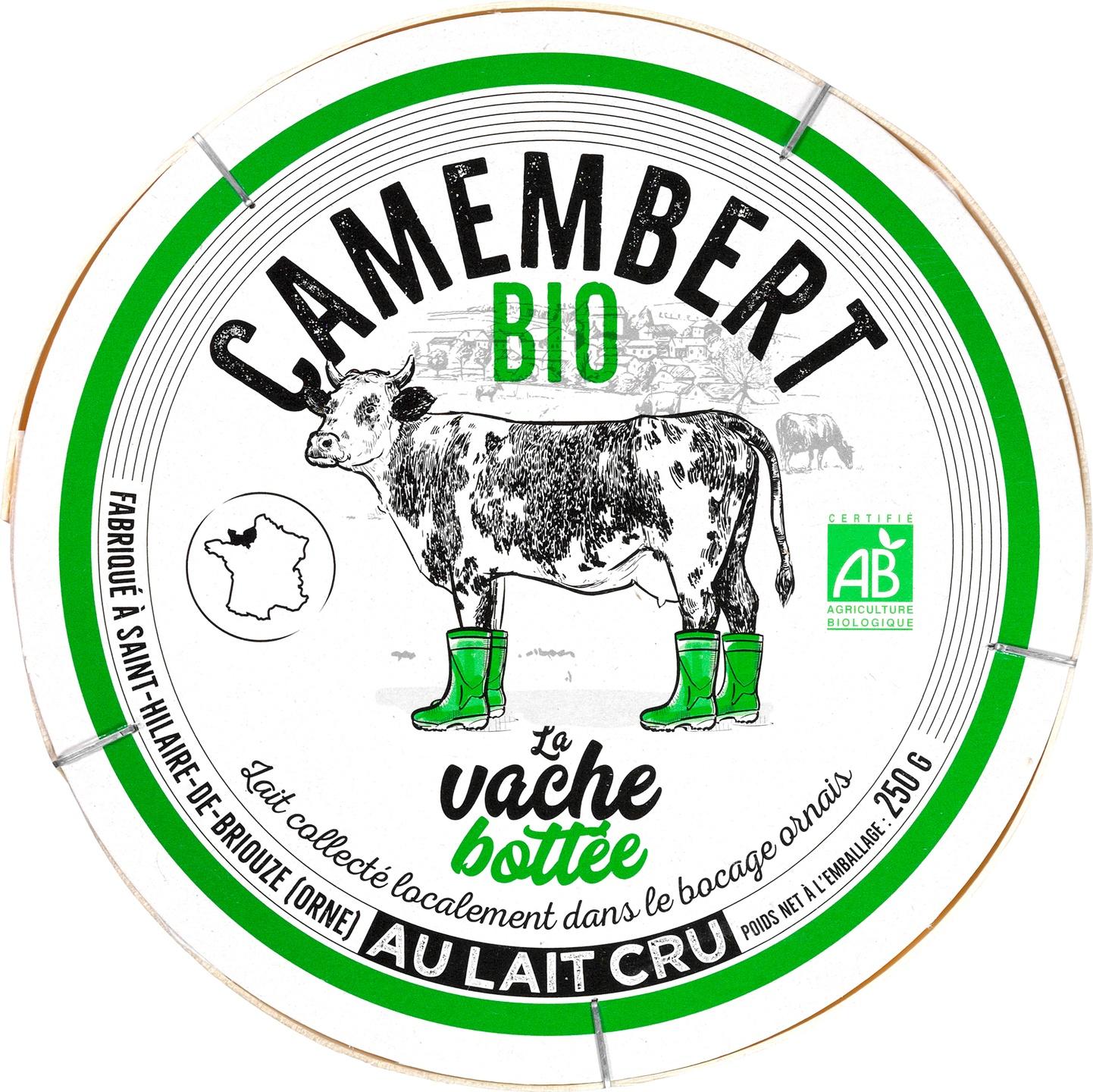 Biologische Gillot Camembert La Vache Bottée 250 gr