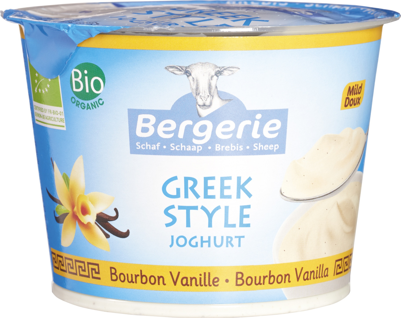 Biologische Bergerie Griekse stijl vanille 250 gr