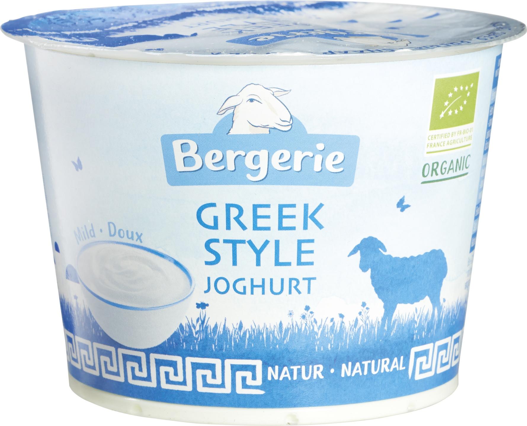 Biologische Bergerie Greek style schapenyoghurt 250 gr