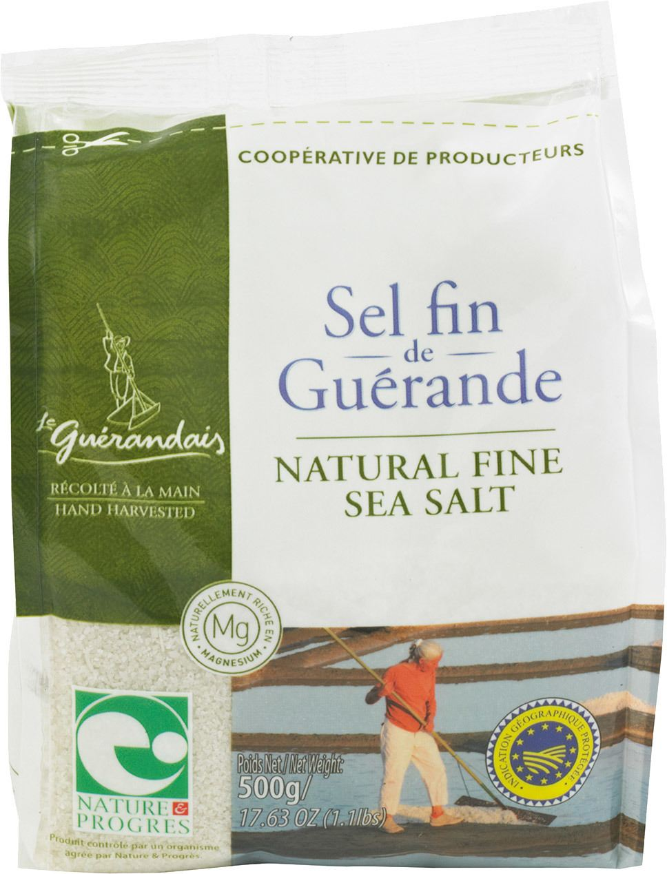 Biologische Le Guérandais Zeezout fijn in zak 500 gr
