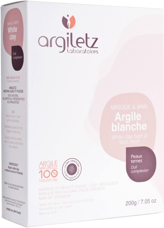 Biologische Argiletz Gezichtsmasker witte klei 200 g