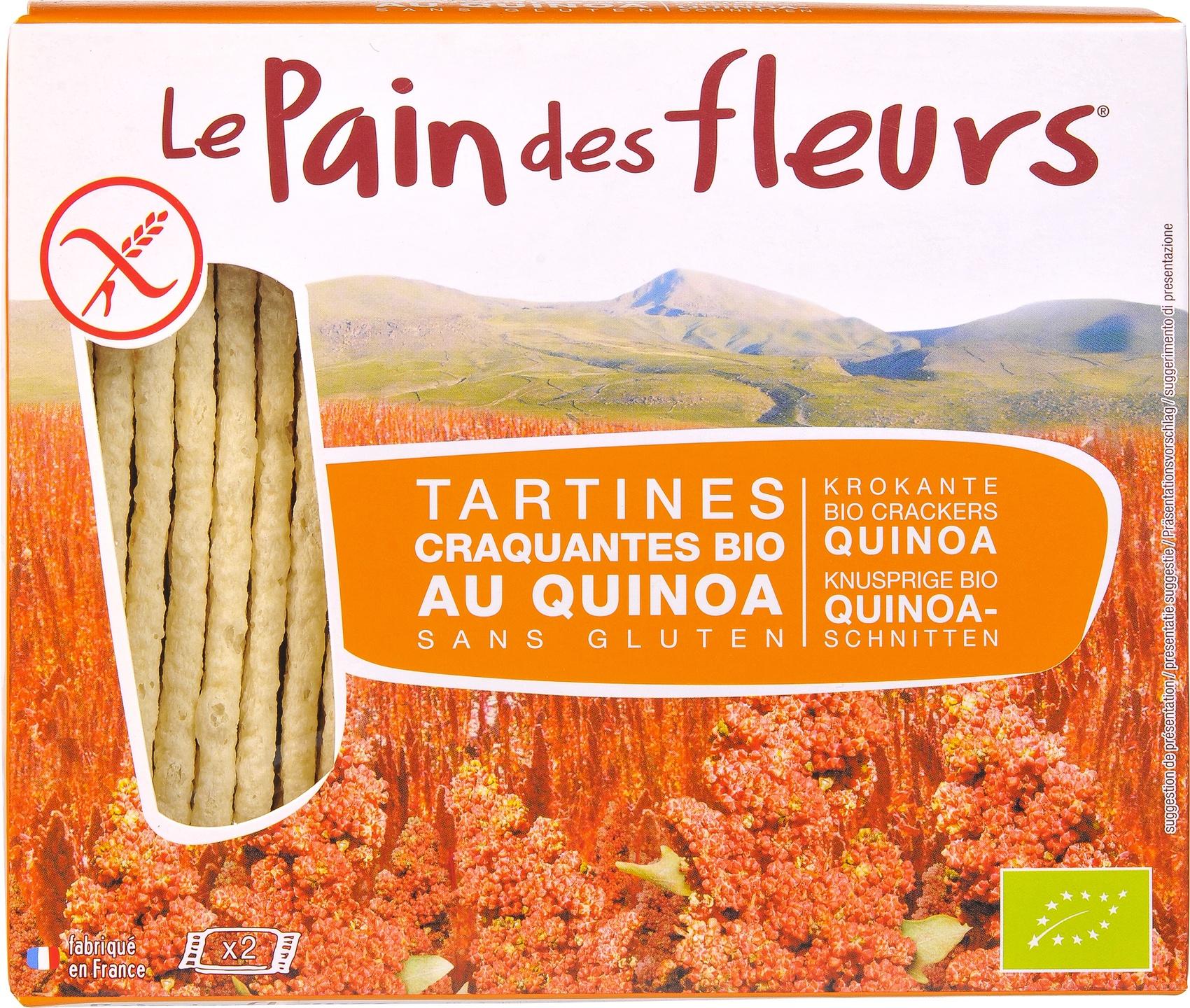 Biologische Le Pain des Fleurs Krokante crackers quinoa 150 g