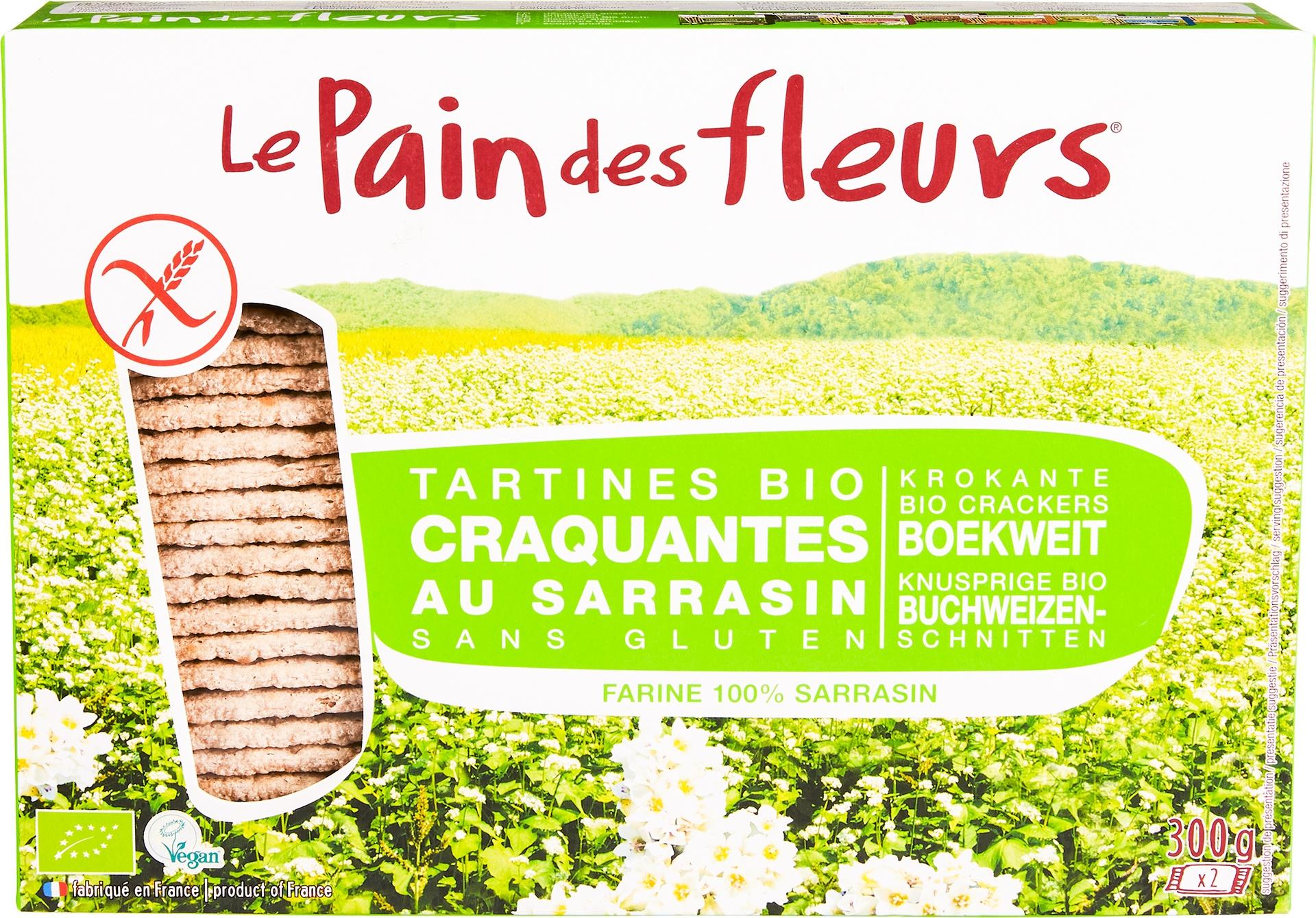 Biologische Le Pain des Fleurs Boekweit crackers 300 gr