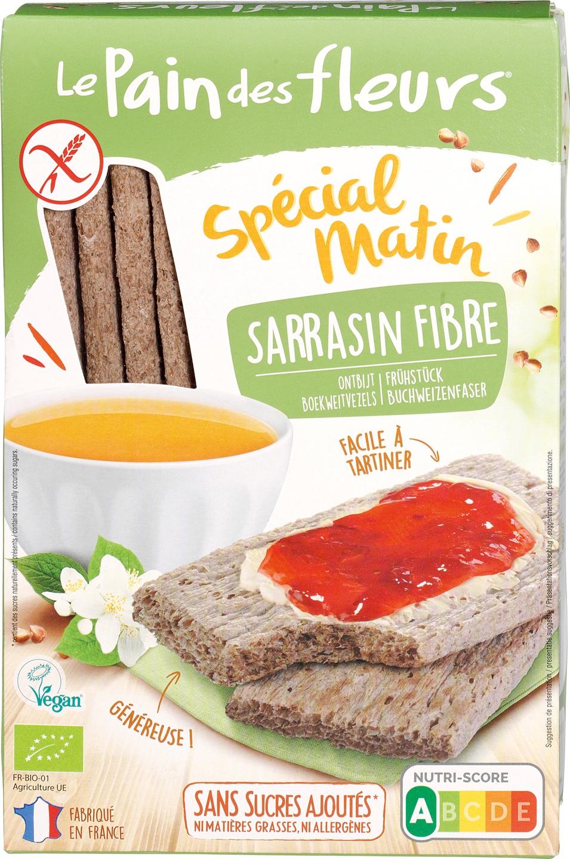 Biologische Le Pain des Fleurs Krokante crackers vezel boekweit 230 g