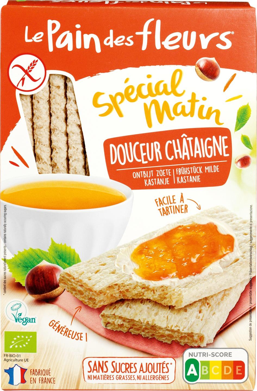 Biologische Le Pain des Fleurs Krokante crackers zoetheid kastanje 230 g