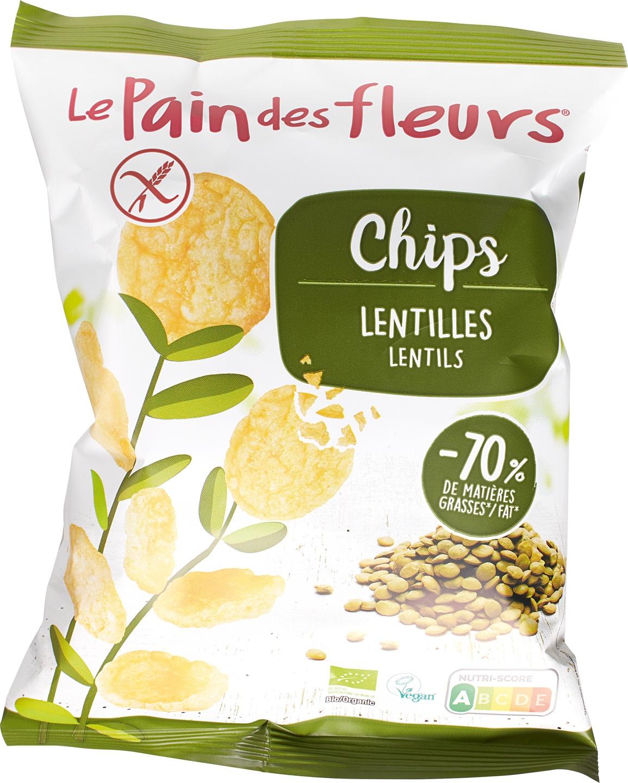 Biologische Le Pain des Fleurs Chips linzen 50 gr