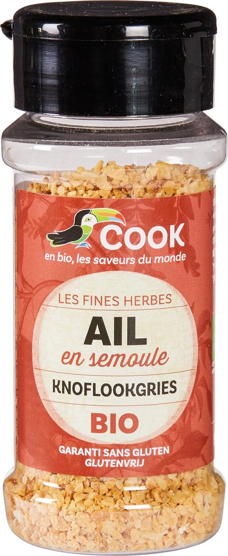 Biologische Cook Knoflookgries 50 gr