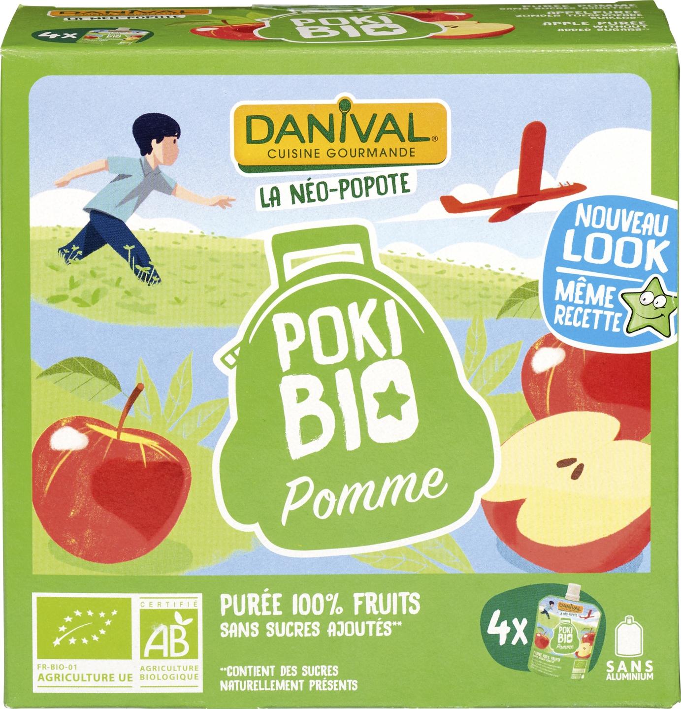 Biologische Danival Knijpfruit Poki Bio appel 4 st