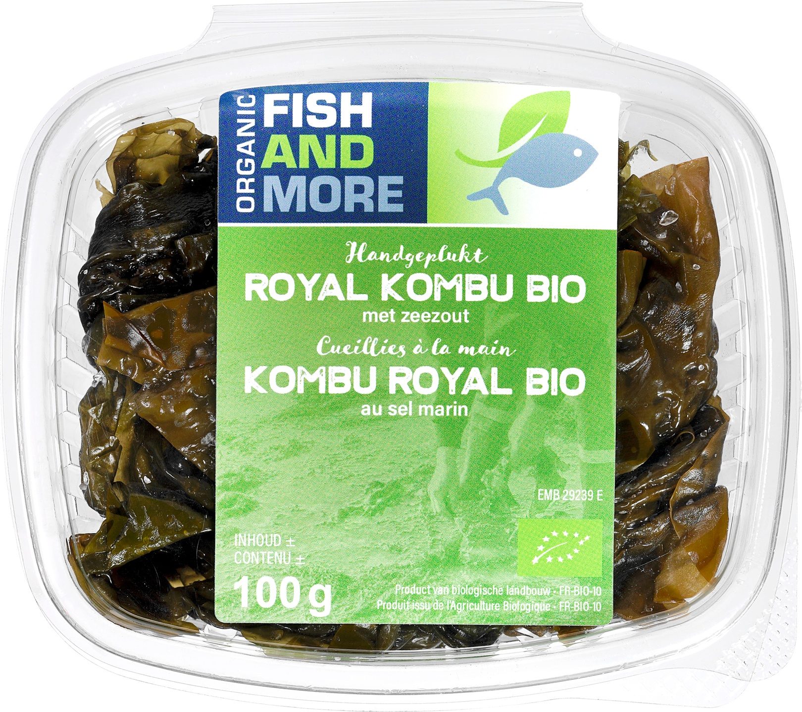 Biologische Fish and More Zeewier Kombu Royal 100 gr
