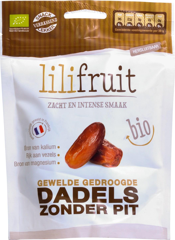 Biologische Lilifruit Gewelde dadels 150 gr