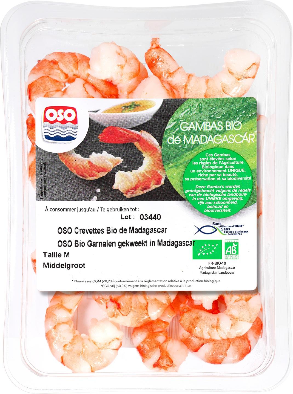 Biologische OSO Garnalen 100 gr