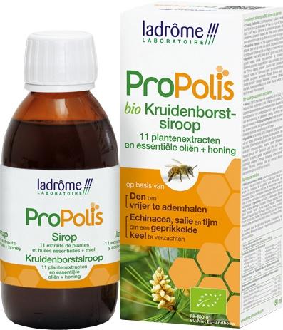 Biologische ladrôme laboratoire ProPolis kruidenborstsiroop 150 ml