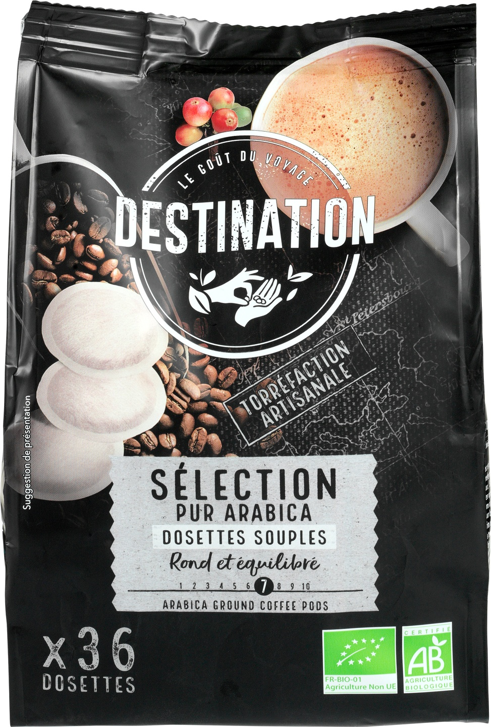 Biologische Destination Koffiepads selection 36 st