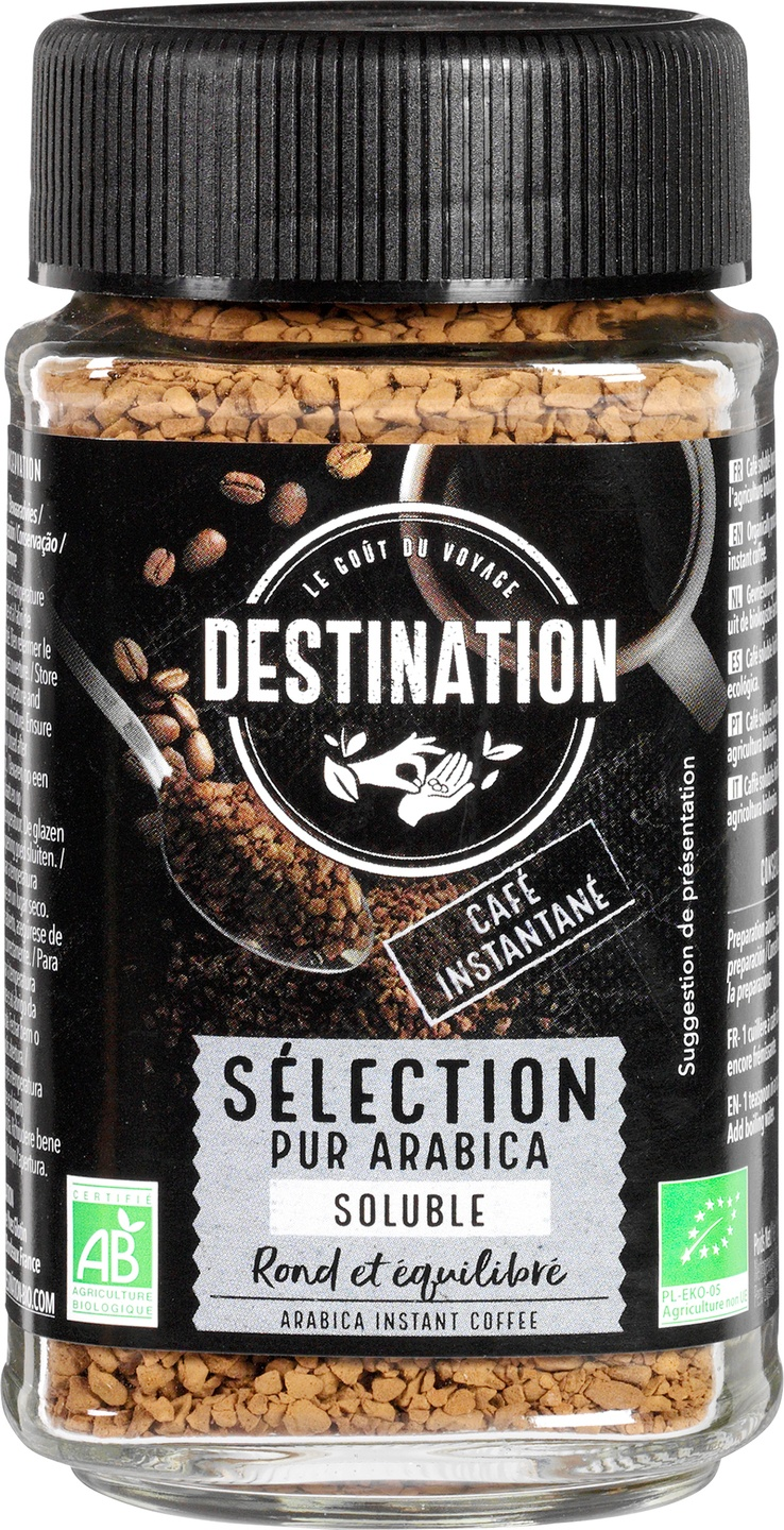 Biologische Destination Oploskoffie selection 100 gr