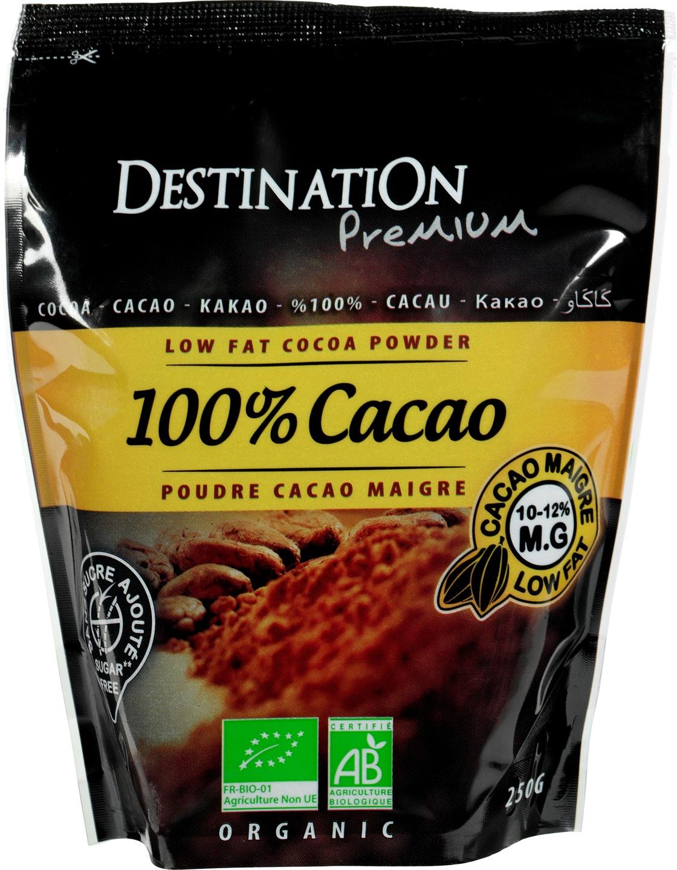 Biologische Destination Cacaopoeder mager 250 gr