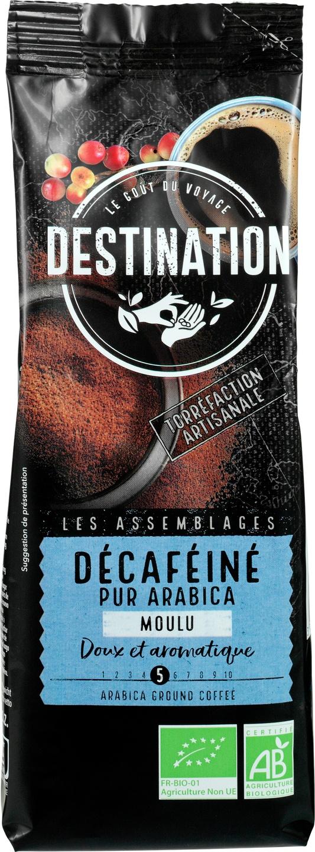 Biologische Destination Gemalen koffie decaf 250 gr