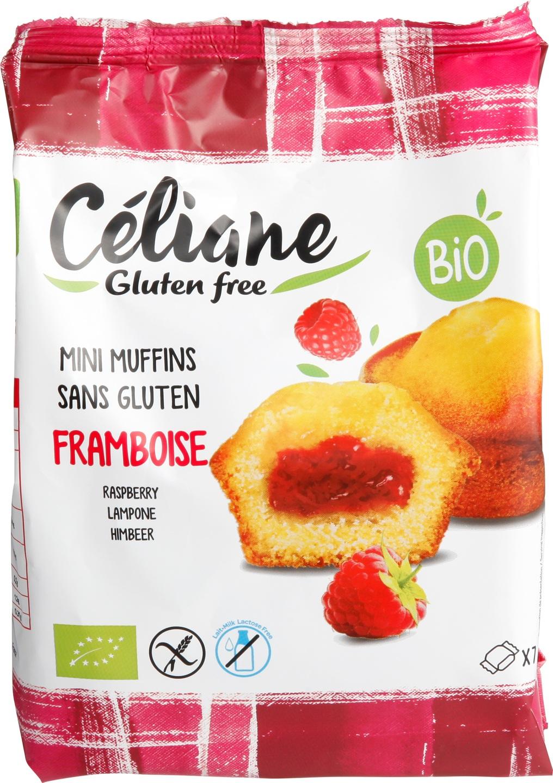 Biologische Celiane Mini-muffins met frambozenvulling GV-LV 200 gr